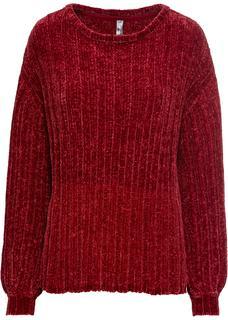 Dames trui lange mouw in rood