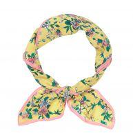 Zijde sjaal met print van Becksondergaard, geel