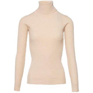 Basic coltrui beige - Truien & Sweaters