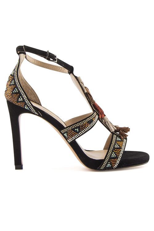Camoscio Sandalo Tacco QeLF7b