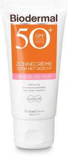 zon - Gevoelige huid - Zonnecrème gezicht - SPF 50+ - 50 ml