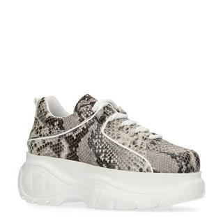 plateau sneakers met slangenprint