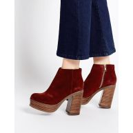 ASOS EXPRESSION 70s Suede Platform Ankle Boots