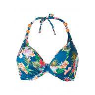 Cyell Halter bikinitop met bloemenprint