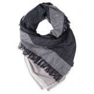Even&Odd Sjaal black/grey