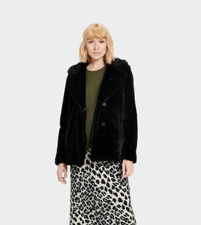 Rosemary Faux Fur Jas voor Dames in Black, maat S