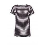 Gestuz Mag gestreept T-shirt met linnen