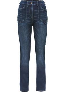 Dames high waist stretch jeans in zwart