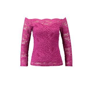 kanten off shoulder top roze (dames)