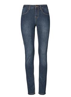Dames Skinny Jeans Donkerblauw (donkerblauw)