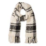 C&a Geruite sjaal Rafels aan de korte einden kleur kasjmier