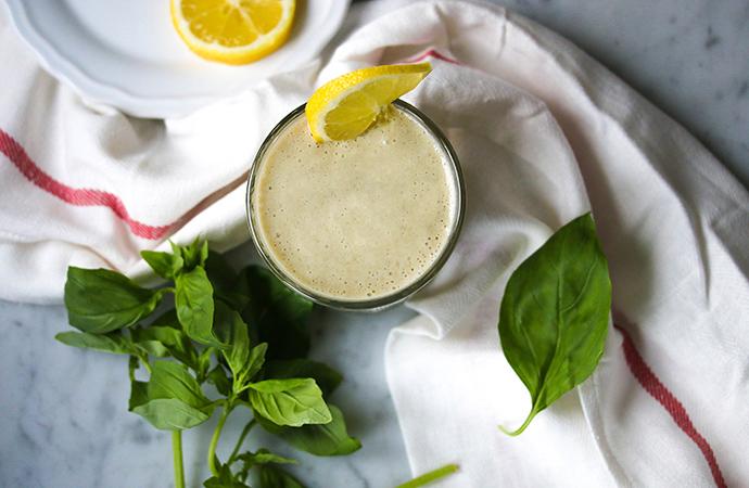 citroen basilicum smoothie