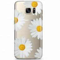 Samsung Galaxy S7 transparant hoesje - Sweet daisies