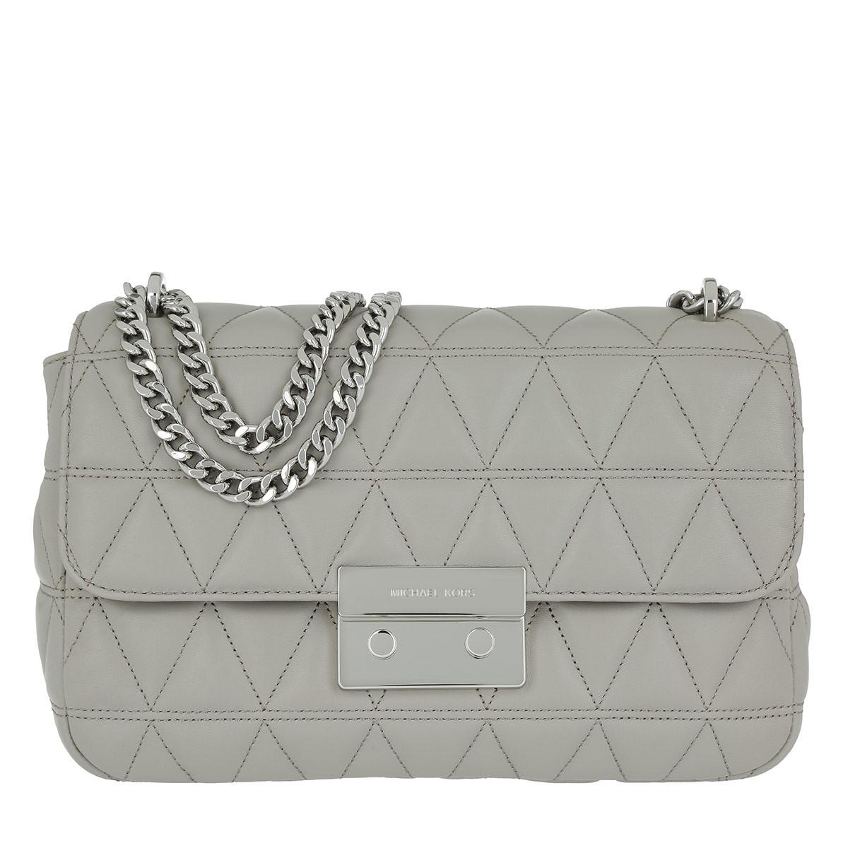 0ZhGr6ke1E Schoudertassen - Sloan LG Silver Chain Shoulder Bag Pearl Grey in grijs voor dames