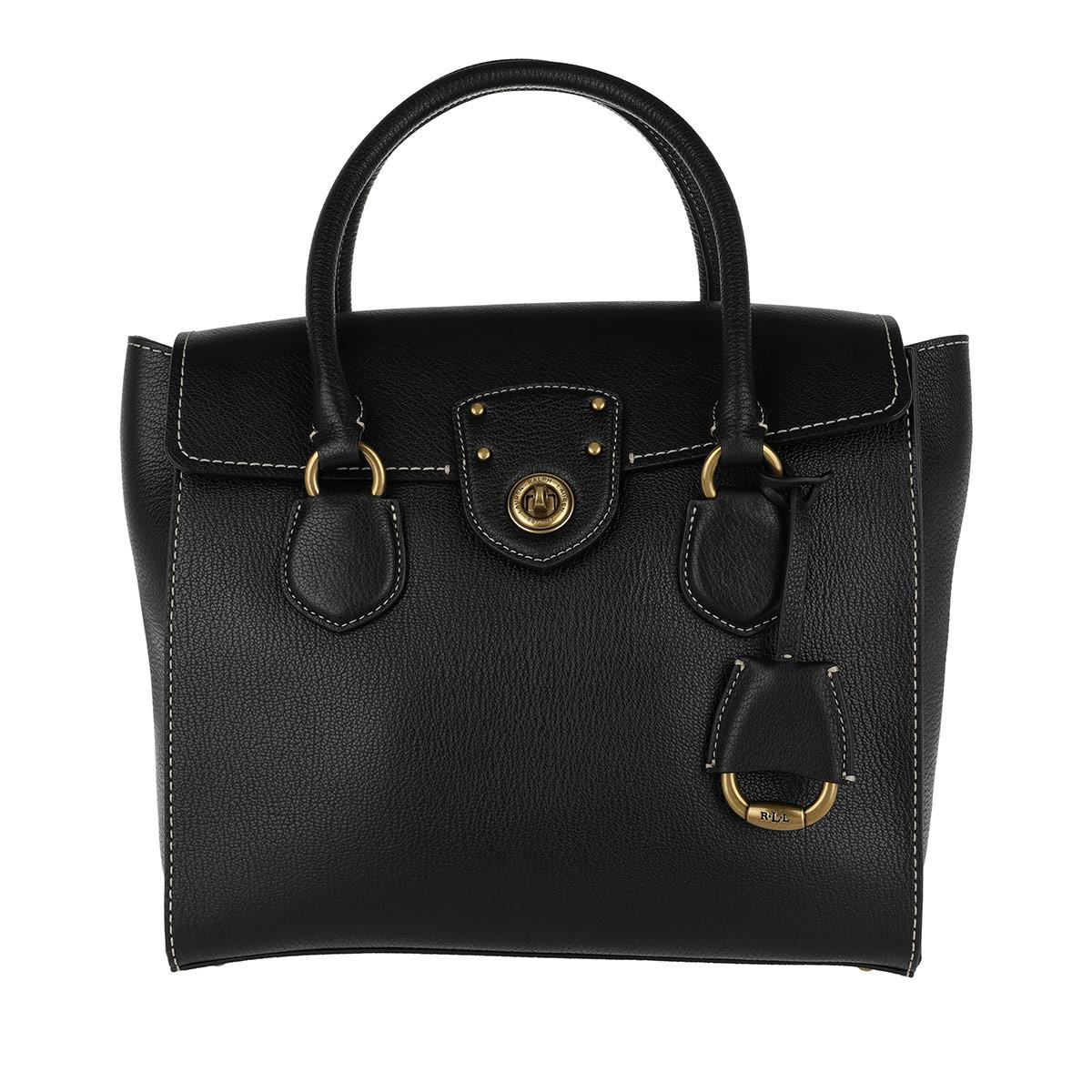 Lauren Ralph Lauren Tassen met handvat - Millbrook Satchel Bag Pebbled Leather 2 Black in zwart voor dames Outlet Amazon verkoopprijzen Cost Goedkope Online tPDCfN