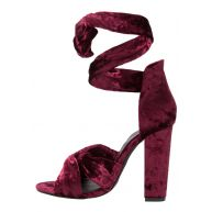 Missguided Sandalen met hoge hak burgundy