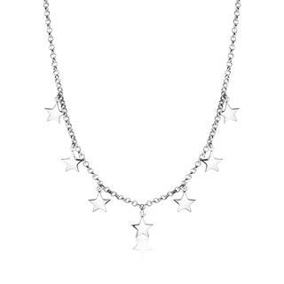 zilveren ketting met 7 sterren 42cm ZIC1574