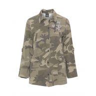 Embellished camouflage jacket