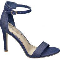 vanHaren - Ellie Goulding collection Blauwe sandalette denim