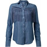Denim Fringes Blouse