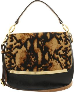 Animal print leren tas