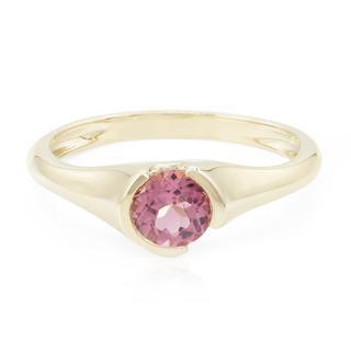 Gouden ring met een roze toermalijn