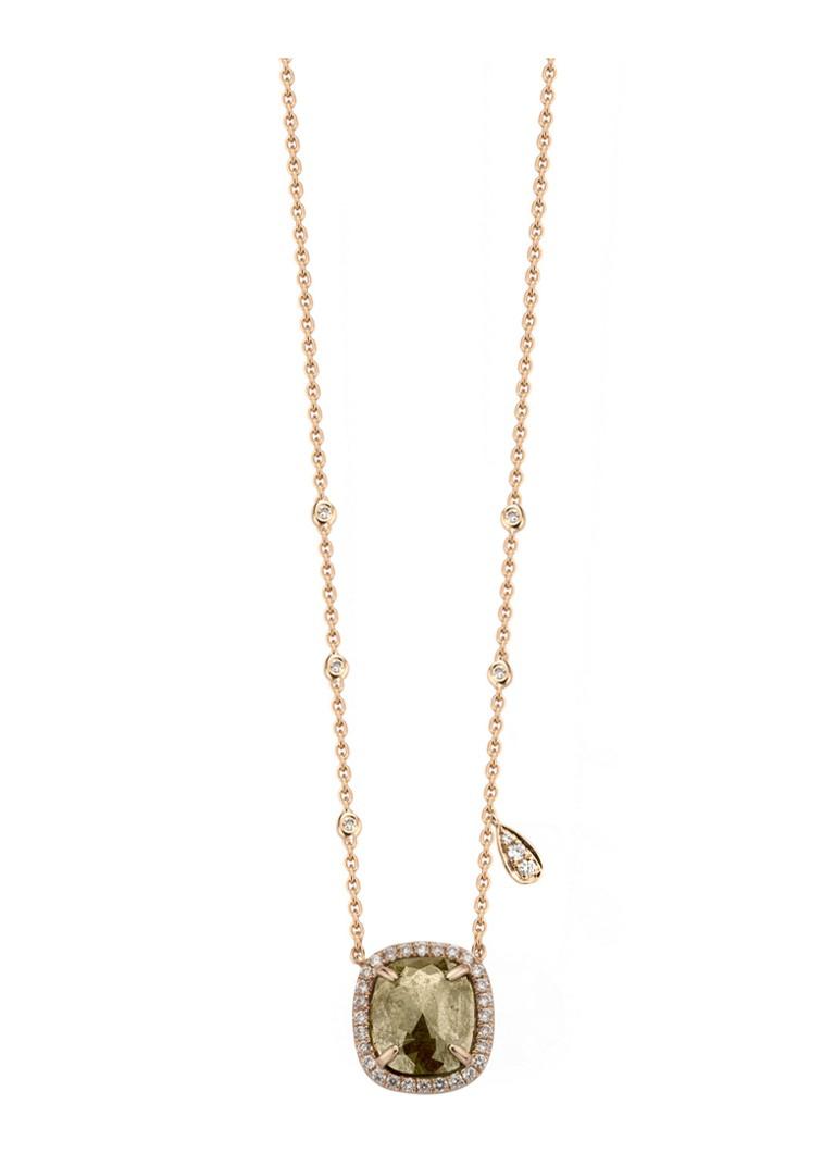 Diamond Point Indian summer roségouden collier 100% Authentiek uB8TJUtH7
