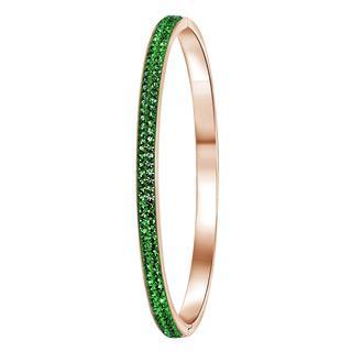 Stalen armband roseplated emerald kristal