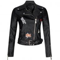 PATCHED BIKER JACKET