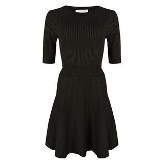 Lurex jurk Zwart - Maat XXL