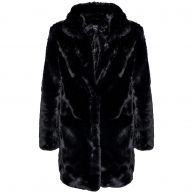 BLACK FABULOUS FAUX FUR -M/L