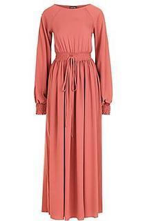 Petite Shirred Waist and Cuff Maxi Dress
