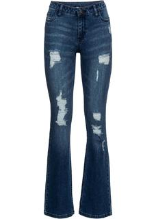 Dames jeans, bootcut in blauw