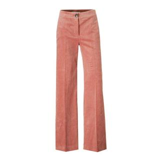 high waisted corduroy palazzo broek roze (dames)