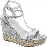 vanHaren - Ellie Goulding collection Witte Sandalette bloemenprint