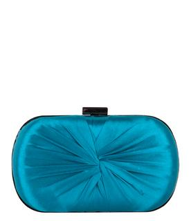 Clutches Oval Box Knot Blauw