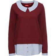 Dames sweatshirt lange mouw in rood - John Baner JEANSWEAR