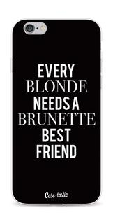 Softcover Apple iPhone 6 / 6s - Every Blonde Needs A Brunette Black