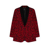 Alix Ladies Woven Leopard Blazer