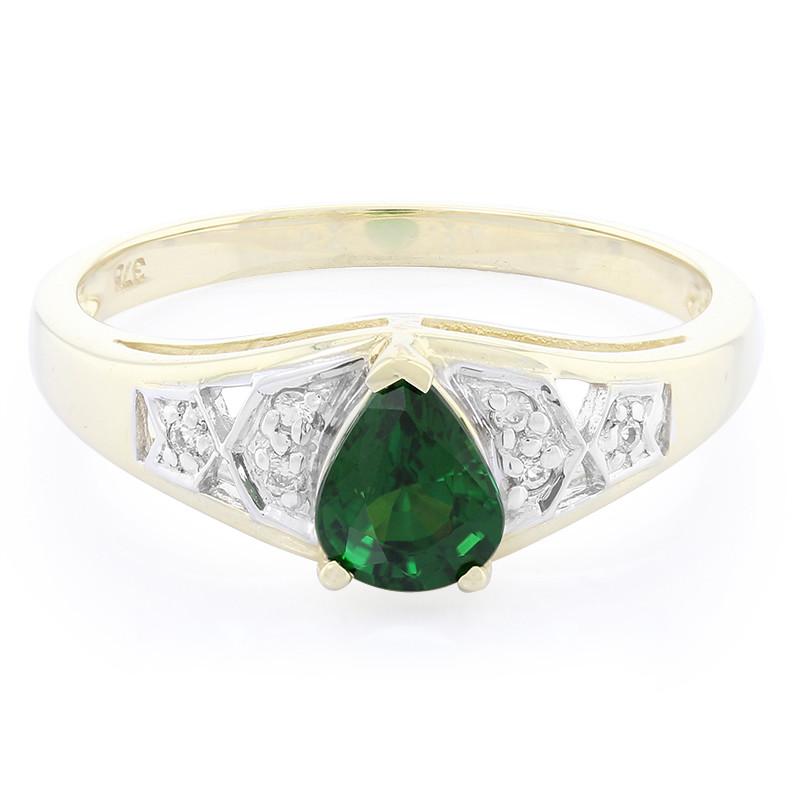 Juwelo Gouden ring met een AAA tsavoriet Korting Lage Prijs Korting Echte ICyiUZ