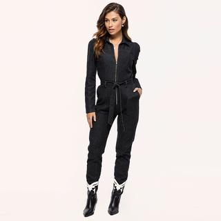 zwarte denim jumpsuit