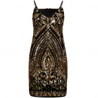 SEQUINS STRAPPY DRESS
