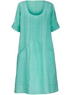 Jurk met 3/4-mouwen turquoise