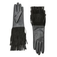 leren handschoenen met franjes