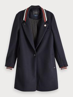 Gebonden jas van een wolmix