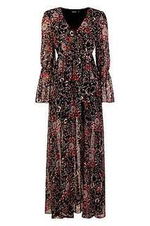 Gabriella Bohemian Tie Detail Maxi Dress
