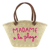 Beach Bag Madame A La Plage - Purple