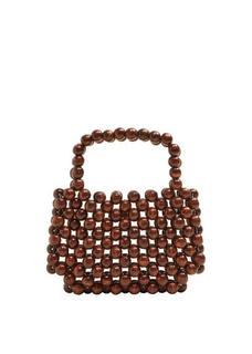 Tas met houten bolletjes