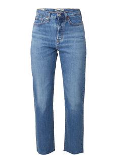 Wedgie high rise straight fit jeans met medium wassing