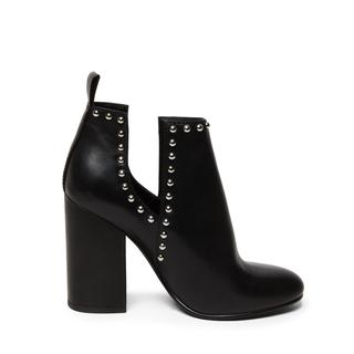 Naomi-S Enkelboots met hak black leather dames